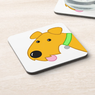 Cartoon Airedale Terrier Close-up 6 Coaster Set