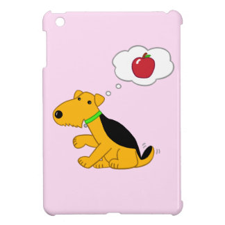 Cartoon Airedale Terrier Dog Thinking of an Apple iPad Mini Cases