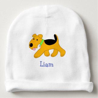 Cartoon Airedale Terrier Puppy Dog Baby Beanie