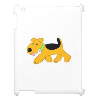 Cartoon Airedale Terrier Puppy Dog iPad Case