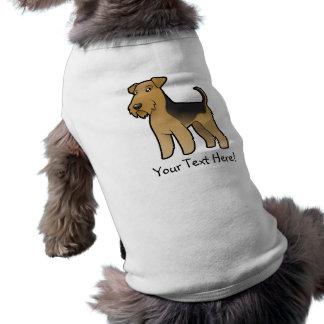 Cartoon Airedale Terrier / Welsh Terrier Pet Tshirt