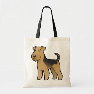 Cartoon Airedale Terrier / Welsh Terrier Tote Bag