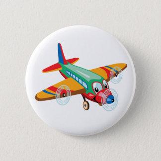 cartoon airplane 2 inch round button
