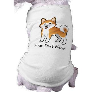 Cartoon Akita Inu / Shiba Inu Dog T Shirt