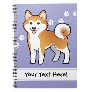 Cartoon Akita Inu / Shiba Inu Spiral Notebook
