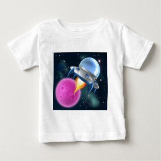 Cartoon Alien Space Ship Flying Saucer Baby T-Shirt