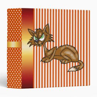 Cartoon Alley Cat Avery Binder