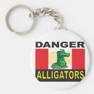 cartoon alligator help basic round button keychain