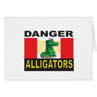 cartoon alligator help card