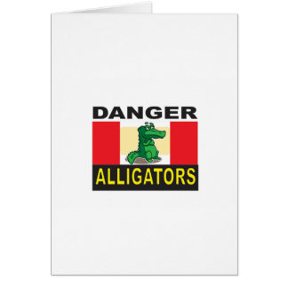 cartoon alligator help card