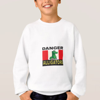 cartoon alligator help sweatshirt