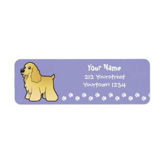 Cartoon American Cocker Spaniel Return Address Label