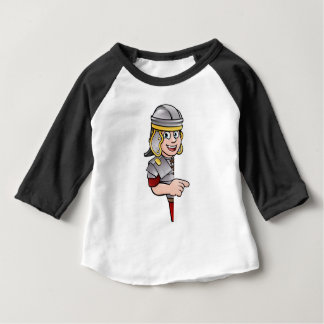 Cartoon Ancient Roman Soldier Pointing Baby T-Shirt