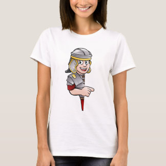 Cartoon Ancient Roman Soldier Pointing T-Shirt
