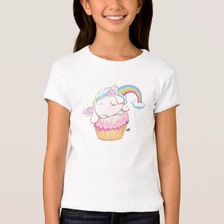 Cartoon Angel Bunny Riding a Cupcake T-Shirt