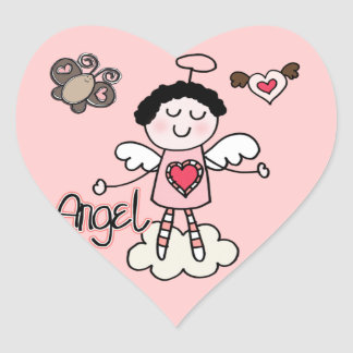 Cartoon Angel Heart Sticker