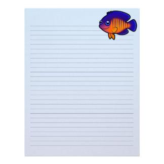 Cartoon Angelfish 1 Custom Letterhead