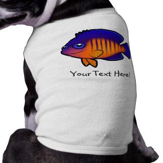 Cartoon Angelfish 1 Doggie Tshirt