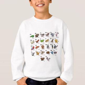 Cartoon Animal Alphabet Chart Set Sweatshirt