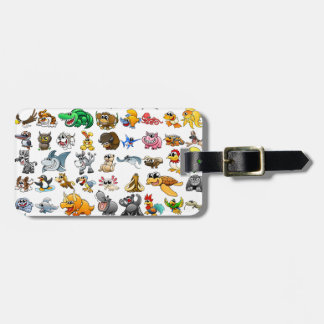 Cartoon Animal Gallery Luggage Tag