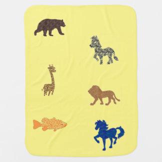 Cartoon Animals Baby Blanket