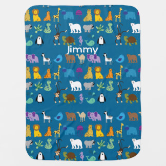 Cartoon Animals Custom Baby Blanket