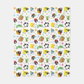 cartoon animals for kids fleece blanket