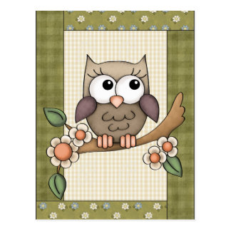 Cartoon any purpose owl postcard