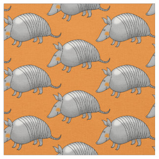 cartoon armadillo fabric