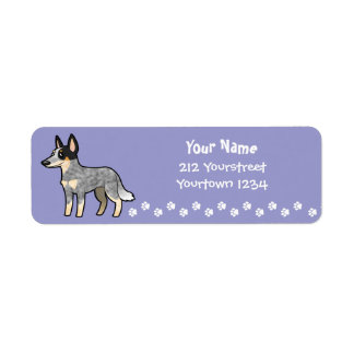 Cartoon Australian Cattle Dog / Kelpie Return Address Label