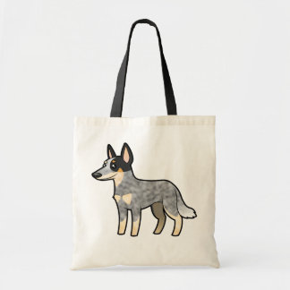 Cartoon Australian Cattle Dog / Kelpie Tote Bag