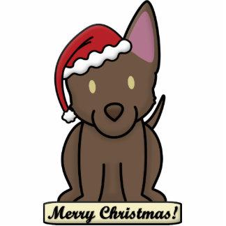 Cartoon Australian Kelpie Christmas Ornament Photo Sculpture Ornament