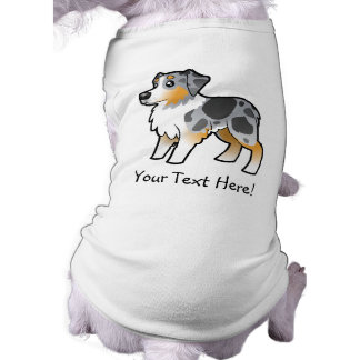 Cartoon Australian Shepherd Dog T Shirt