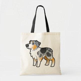 Cartoon Australian Shepherd Tote Bag