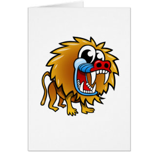 Cartoon Baboon Card