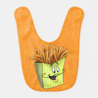 Cartoon baby bib fries very cute