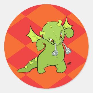 Cartoon Baby Dragon Stickers