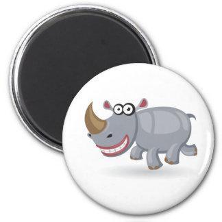 Cartoon baby Rhino 2 Inch Round Magnet