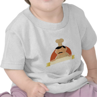Cartoon Baker Banner T Shirts