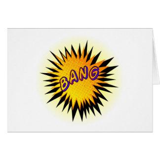 Cartoon Bang Card