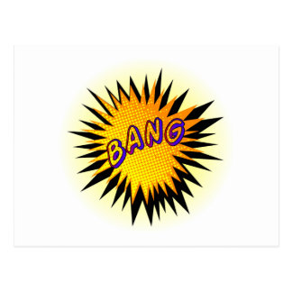 Cartoon Bang Postcard