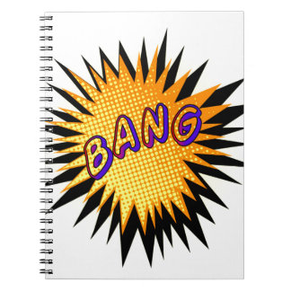 Cartoon Bang Spiral Notebook