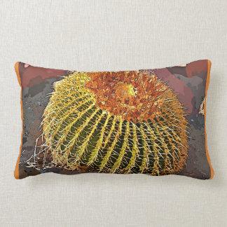 Cartoon Barrel Cactus Lumbar Throw Pillow