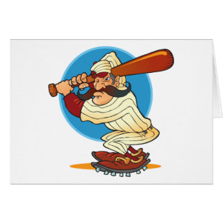 Cartoon Baseball Batter Card