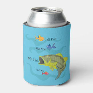 Cartoon Bass Fishing Can Cooler