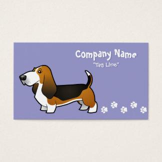 Cartoon Basset Hound Business Card
