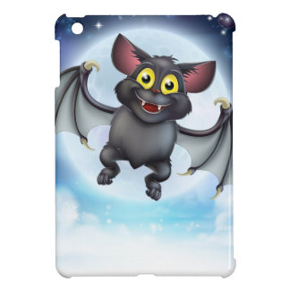 Cartoon Bat and Full Moon Halloween Scene iPad Mini Case