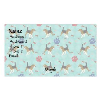 Cartoon Beagle Business Card Templates