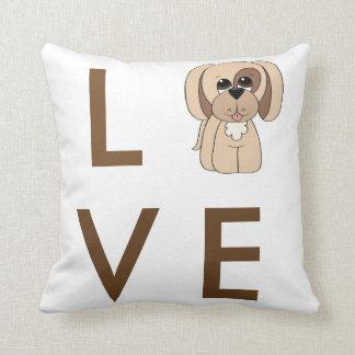 Cartoon Beagle Love Dog Pillow