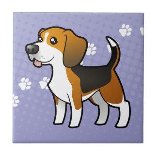 Cartoon Beagle Tile